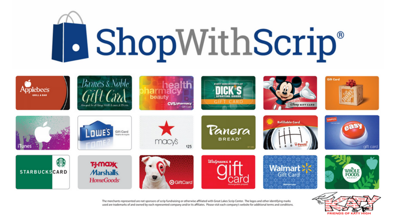 Shop with Scrip and you are helping provide scholarships to our amazing students at Katy High School! Learn more today!