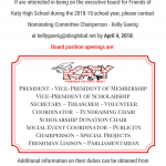 Friends of Katy Board Position Openings for 2018-19 School Year
